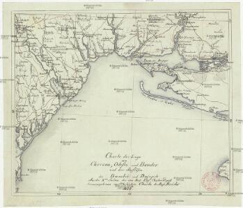 Charte der Lage von Cherson, Odessa und Bender und der Ausflüsse des Dnestr's und Dnjepr's