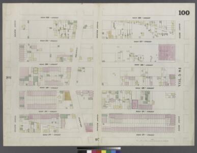 Plate 100: Map bounded by West 52nd Street, Sixth Avenue, West 47th Street, Eighth Avenue