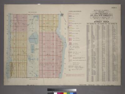 Outline & Index Map of Volume One, Atlas of New York City, Borough of Manhattan : 59th Street to 110th Street.