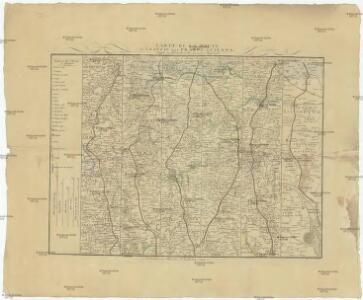 Carte de la route de Leipzic par Prague a Vienne dressée en Bades a la maniere Angloise