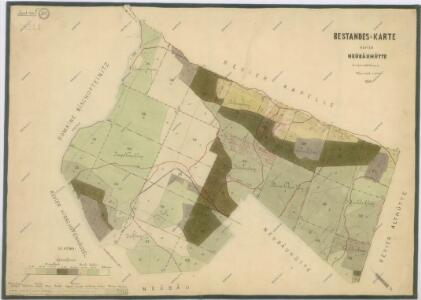 Porostní mapa revíru Novosedlské Hutě