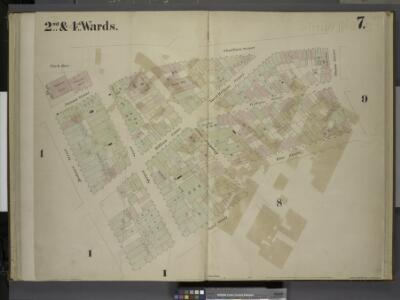 [2nd & 4th Wards. Plate 7: Map bounded by Park Row,   Chatham Street, Duane Street, Rose Street, Frankfort Street, Gold Street,        Beekman Street; Including Nassau Street, William Street, North William Street,   William Street, Spruce Street]