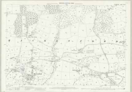 Devon XXXIII.7 (includes: Rackenford) - 25 Inch Map