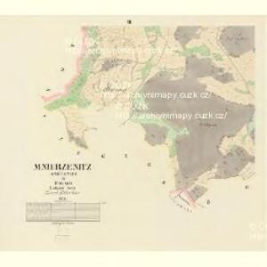 Mnierzenitz (Mněřenitz) - c4708-1-002 - Kaiserpflichtexemplar der Landkarten des stabilen Katasters