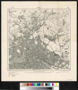 Meßtischblatt 1837 : Berlin, 1918