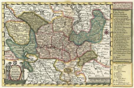 Reise Charte durch das Churfürstenthum Brandenburg