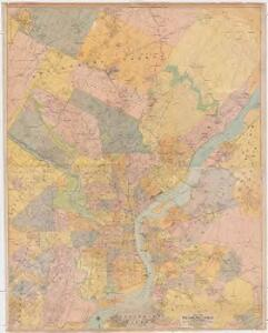 Map of Philadelphia, Camden and vicinity : compiled from city plans & personal surveys