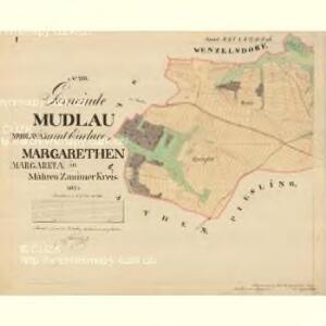 Mudlau - m1839-1-001 - Kaiserpflichtexemplar der Landkarten des stabilen Katasters