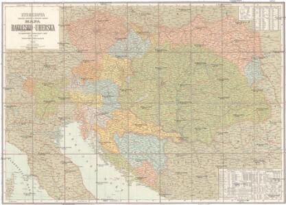 Storchova nejnovější politická a železniční cestovní mapa Rakousko-Uherska