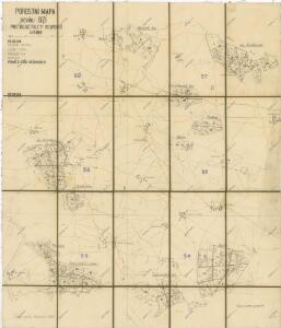 Porostní mapa revíru Bzí pro desetiletí 1931/1940 1
