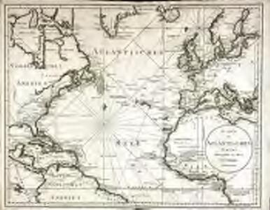 Karte des Atlantischen Oceans