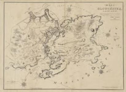 Map of Gloucester, Cape Ann : shewing the roads, harbours, rivers, coves, islands & ledges surrounding that important cape, with directions for entering the harbours