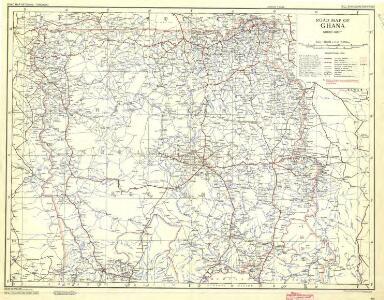 Ghana Road Map (North) 1957