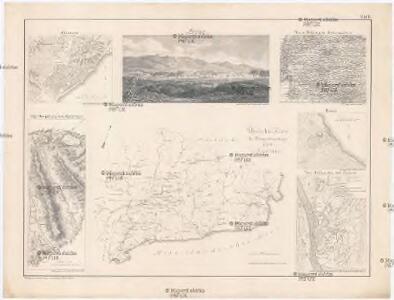 Übersichts Karte des Kriegsschauplatzes 1708 in Catalonien