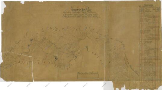Geometrický plán činžovních a jiterních pozemků jednotářů u Nové Řeky