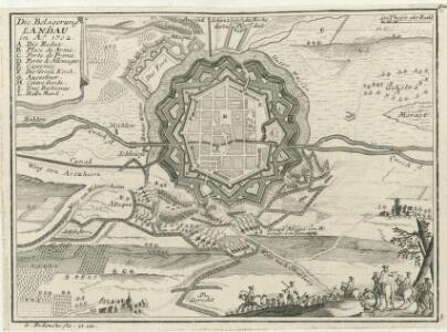 Die Belagerung Landau in Ao. 1702.