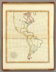 Plain map America.