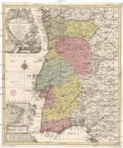 Regna Portugalliae et Algarbiae, cum adjacentibus Hispaniae provinciis