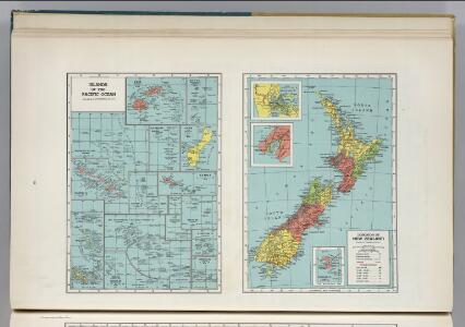 Islands of the Pacific Ocean.  Dominion of New Zealand.