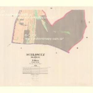 Schlowitz (Slowice) - c7750-1-005 - Kaiserpflichtexemplar der Landkarten des stabilen Katasters