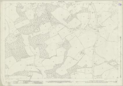 Surrey XXXIX.5 (includes: Bramley; Wonersh) - 25 Inch Map