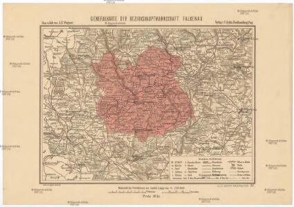 Generalkarte der Bezirkshauptmannschaft Falkenau