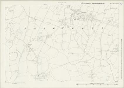 Kent LXXVIII.12 (includes: Sandhurst) - 25 Inch Map
