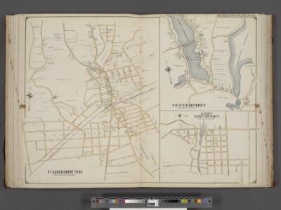 Suffolk County, V. 2, Double Page Plate No. 16 [Map bounded by Center Port, East North Port, Fair Ground] / supplemented by careful measurements & field observations by our own Corps of Engineers.