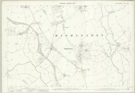 Gloucestershire XXIV.4 (includes: Hartpury; Newent; Rudford; Taynton; Tibberton) - 25 Inch Map