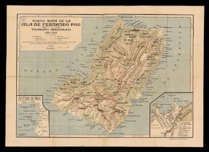 Nuevo mapa de la isla de Fernando Póo, vicariato Apostólico