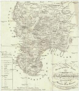 Geographische Karte des ob der ennsischen Salzkammersguts