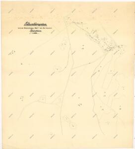 Situační plán pozemků katastrální obce Pavlův Studenec