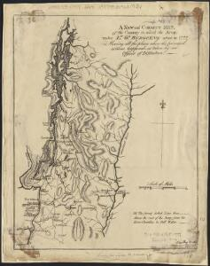 A new and correct map, of the country in which the Army, under Lt. Gl. Burgoyne acted in 1777, shewing all the places where the principal actions happened