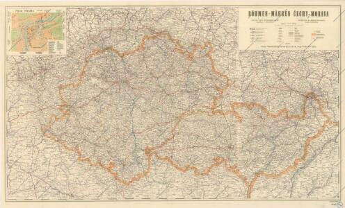 Čechy - Morava Příruční a cestovní mapa