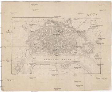 Plan der Stadt-Festung und Citadelle Antwerpen