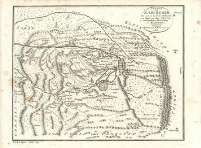 Charte von Kaschemir: Aus einer in der Nationalbibliothek zu Paris von Capt. Gentil niedergelegten Beschreibung Hindostan's