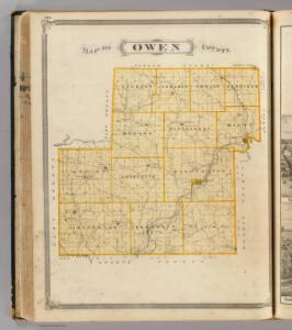 Map of Owen County.