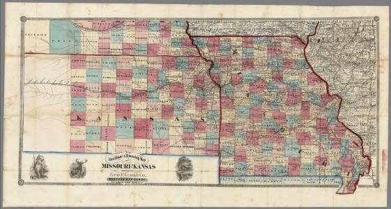 New Rail Road & township map of Missouri and Kansas
