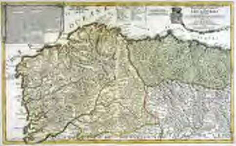 Le royaume de Galice divisé en plusieurs territoires, et les Asturies divisees en Asturie d'Oviedo et de Santillana