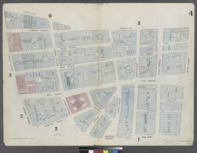 [Plate 4: Map bounded by Maiden Lane, South Street, Old Slip, William Street, Exchange Place, Broad Street, Nassau Street]
