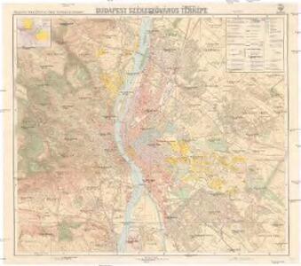 Budapest székesföváros térképe