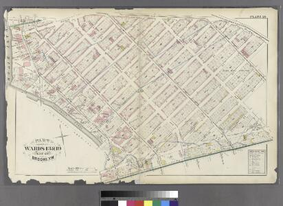 [Plate 20: Bounded by S. 11th Street, Division Avenue, Broadway, Heyward Street, Harrison Avenue, Middleton Street, Marcy Avenue, Flushing Avenue, Classon Avenue, Kent Avenue and 1st Street.]