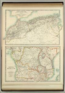 Marocco, Algeria & Tunis.  Central Africa.