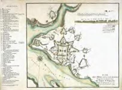 Plan des mines et casemates, magazins et souterains du Fort St. Philip[p]e