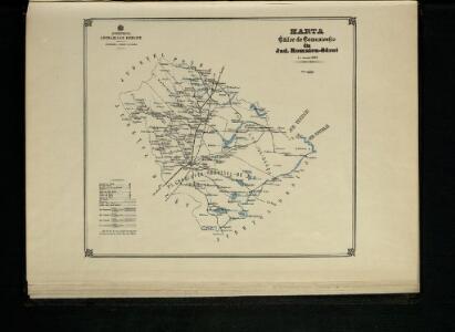 Harta Cailor de Comunicatie din Judetul Romnicu-Sarat