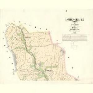 Hohenörlitz (Orlice) - c8850-1-001 - Kaiserpflichtexemplar der Landkarten des stabilen Katasters