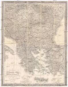 General-Karte der europäischen Türkey und des Königreichs Griechenland