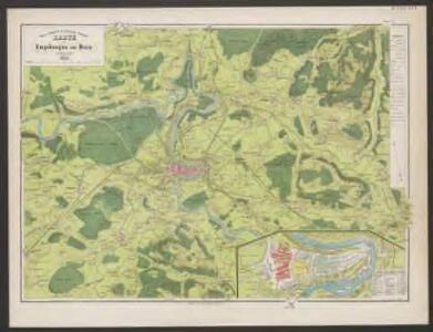Karte der Umgebungen von Bern