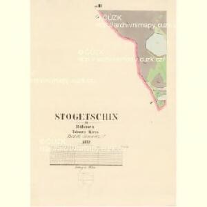 Stogetschin - c7351-1-003 - Kaiserpflichtexemplar der Landkarten des stabilen Katasters