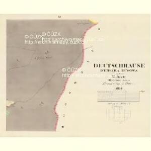 Deutschhause (Nemecka Husowa) - m0938-2-010 - Kaiserpflichtexemplar der Landkarten des stabilen Katasters